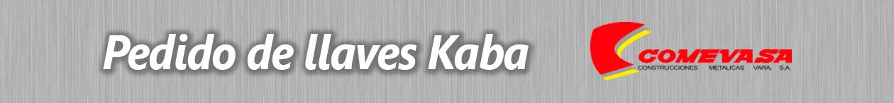 Pedido de llaves Kaba